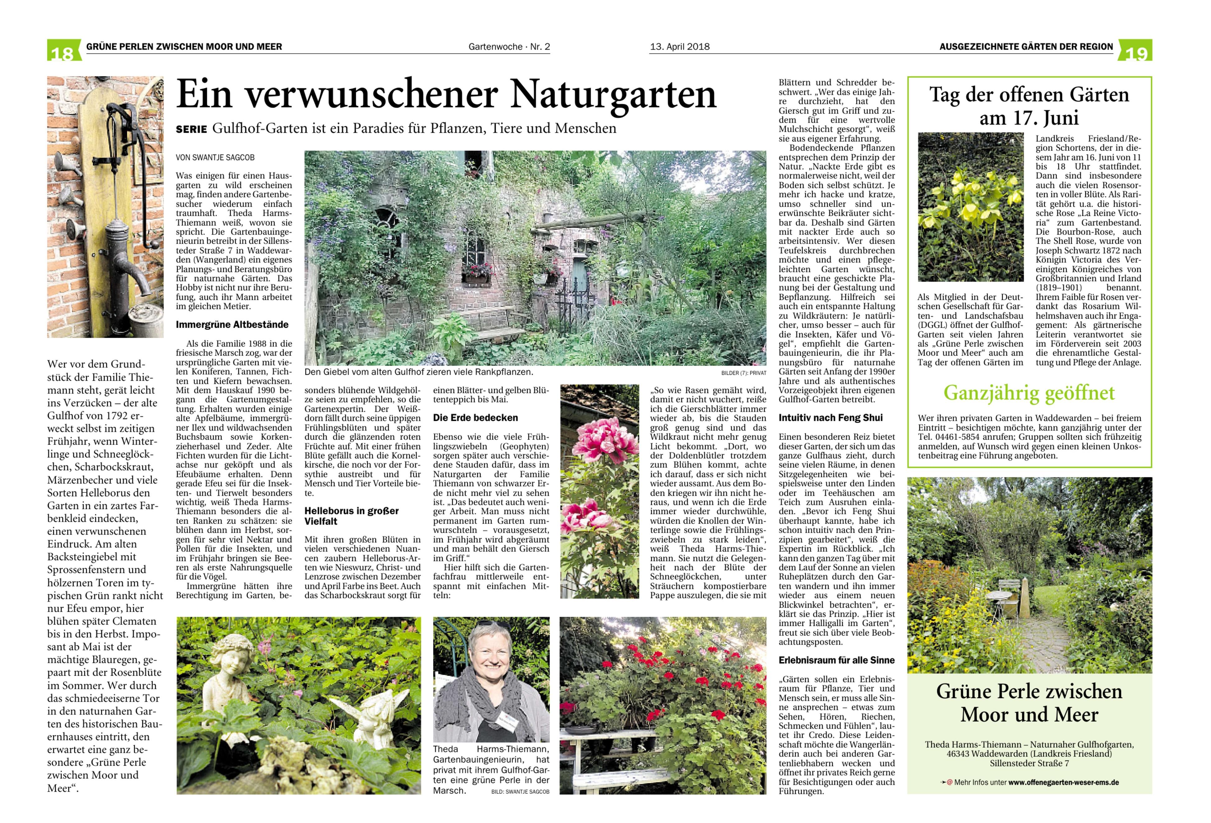 Aktuelle Informationen Und Termine Offene Gärten Region Weser Ems